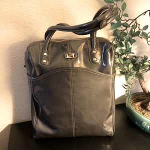 One of a kind Nike Tote grey patent travel bag.